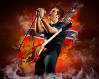 Guitarrista de la roca Imagen de archivo libre de regalías