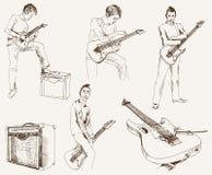 Guitarrista de la roca Fotografía de archivo libre de regalías