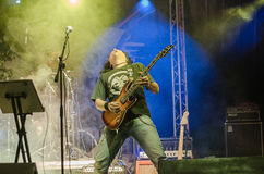 Guitarrista de la roca Fotografía de archivo
