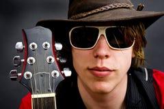 Guitarrista de la roca del jazz Imagen de archivo libre de regalías