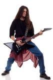 Guitarrista de metales pesados Imagen de archivo libre de regalías