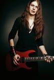 Guitarrista de metales pesados Fotos de archivo libres de regalías
