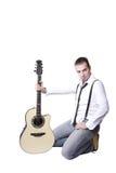 Guitarrista del Latino imagen de archivo libre de regalías