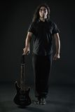 Guitarrista do metal pesado Fotografia de Stock