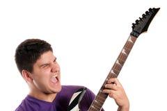 Guitarrista eléctrico Imagenes de archivo