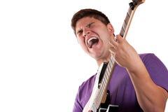 Guitarrista eléctrico Imágenes de archivo libres de regalías