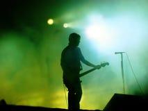 Guitarrista en etapa Imagen de archivo libre de regalías