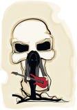 Guitarrista escuro ilustração stock