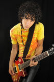 Guitarrista fresco Foto de archivo libre de regalías