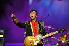 Guitarrista intoxicado foto de stock royalty free