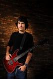 Guitarrista joven Fotografía de archivo libre de regalías