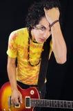 Guitarrista masculino adolescente fresco Fotos de archivo