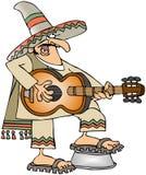 Guitarrista mexicano stock de ilustración