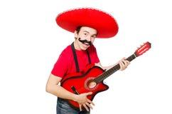 Guitarrista mexicano Imagen de archivo libre de regalías