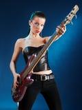 Guitarrista na luz Imagem de Stock Royalty Free