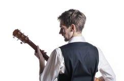 Guitarrista novo Imagens de Stock