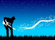Guitarrista que faz a música ilustração do vetor