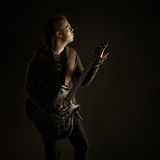 Guitarrista que joga a música rock Imagens de Stock Royalty Free