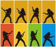 Guitarristas de metales pesados Imagenes de archivo