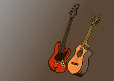 Guitars Royalty Free Stock Photography