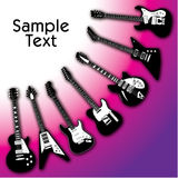 Guitars Background Royalty Free Stock Photo
