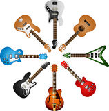 Guitars circle Royalty Free Stock Photography