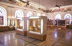 Guitars on display in the Memphis Cotton Museum Stock Image