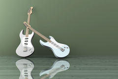 Guitars. In a empty room Royalty Free Stock Photo