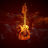 Guitars fire Stock Photos