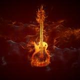 Guitars fire Stock Photos