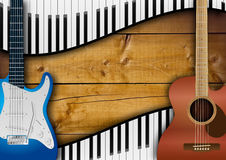 Guitars And Keyboards Background Stock Images