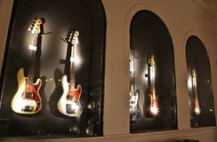 Guitars - the Museum, Umeå Stock Photo