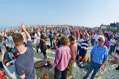 Free Guitars On The Beach - Lyme Regis Stock Photography - 87981162