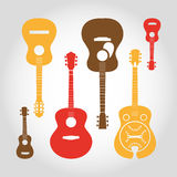 Guitars set Stock Photography
