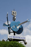 Guitars show the junction of 61 and 49 highways Royalty Free Stock Photography