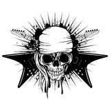 Guitars skull var 3 Stock Image