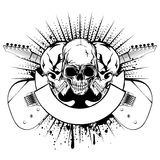 Guitars skull_var 28 Royalty Free Stock Photo