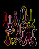 Guitars - vector illustration Royalty Free Stock Photos