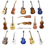 Guitars and violins Royalty Free Stock Images