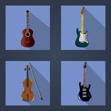 Guitars and violins Stock Image