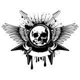 Guitars wings skull_var 6 Royalty Free Stock Image