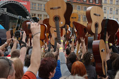 Guitars World Guinness Record Royalty Free Stock Photos