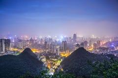 Guiyang, China. Cityscape at night royalty free stock photo