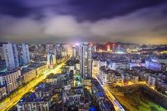 Guiyang, China Cityscape. At night stock photos