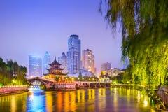 Guiyang, China Cityscape. Guiyang, China skyline at Jiaxiu Pavilion on the Nanming River royalty free stock photos