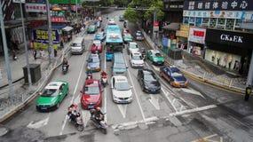 Guiyang City street Traffic. Traffic in busy city street at peak hour,at guiyang city china Stock Photo