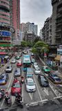 Guiyang City street Traffic 2. Traffic in busy city street at peak hour,at guiyang city china Stock Photos
