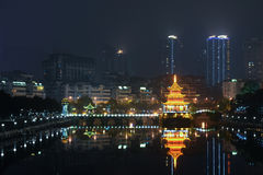 Guiyang scenery,China. Guiyang scenery China landscape night scenes royalty free stock images