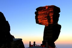 Guizhou Fanjingshan sunset Stock Photography