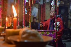 Free GUIZHOU PROVINCE, CHINA – CIRCA DECEMBER 2018: The Ritual Redeeming The Vow. Royalty Free Stock Image - 136319596